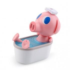 Cikuso Aromatherapy Air Humidifier Cute Pig Bath Design 250ml - AJ-207 - Pink - 9