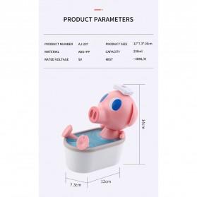 Cikuso Aromatherapy Air Humidifier Cute Pig Bath Design 250ml - AJ-207 - Pink - 10
