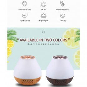 FUNHO Aromatherapy Air Humidifier Wood 400ml with LED RGB - AJ-504 - Wooden - 2