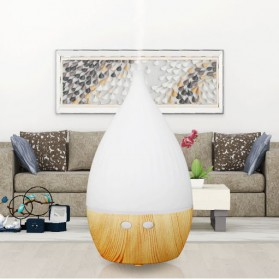 FUNHO Air Humidifier Aromatherapy Oil Diffuser Wood Design 150ml with LED RGB - AJ-509 - Wooden