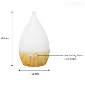 FUNHO Aromatherapy Air Humidifier Wood 150ml with LED RGB - AJ-509 - Wooden - 5
