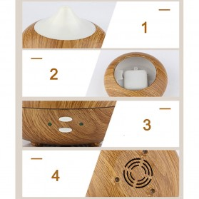 FUNHO Aromatherapy Air Humidifier Wood 210ml with LED RGB - AJ-507 - Wooden - 6
