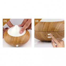 FUNHO Aromatherapy Air Humidifier Wood 210ml with LED RGB - AJ-507 - Wooden - 8