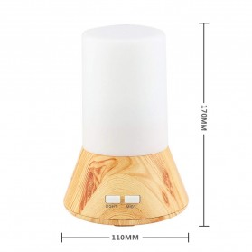 FUNHO Aromatherapy Air Humidifier Wood 125ml with LED RGB - AJ-125 - Wooden - 5