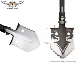 ALMIGHTY EAGLE  Sekop Multifungsi Professional Outdoor Tactical Army Tool - ET5 - Gray - 3