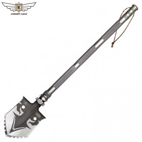 ALMIGHTY EAGLE  Sekop Multifungsi Professional Outdoor Tactical Army Tool - ET5 - Gray - 4
