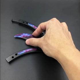 KNIFEZER Pisau Lipat Karambit Folding CS Go Balisong Hunting Knife - CS25 - Painting Red - 2