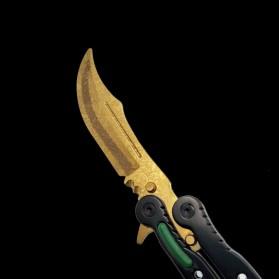 KNIFEZER Pisau Lipat Karambit Folding CS Go Balisong Hunting Knife - CS25 - Painting Red - 8