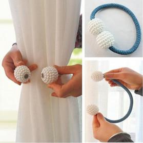 Dekorasi Rumah Lainnya - Arbitrary Tali Pengikat Tirai Gorden Magnetic Curtain Clip - A65 - Blue