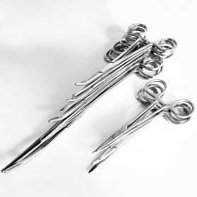 Kitbakechen Gunting Operasi Dokter Medis Hemostat Pliers Clamp Elbow 12.5cm - GJ01168 - Silver - 3