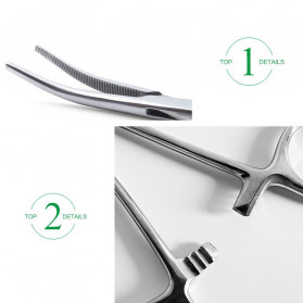 Kitbakechen Gunting Operasi Dokter Medis Hemostat Pliers Clamp Elbow 12.5cm - GJ01168 - Silver - 6