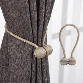 Arbitrary Tali Pengikat Tirai Gorden Magnetic Curtain Clip - A66 - Golden - 6