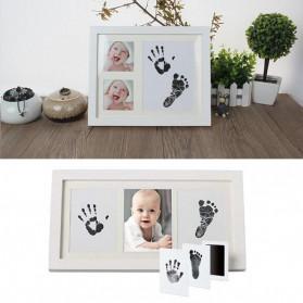 BalleenShiny Tinta Handprint Footprint Bayi Newborn Souvenir Casting Non-Toxic Ink - TZ5819 - Black - 3