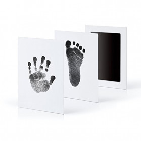 BalleenShiny Tinta Handprint Footprint Bayi Newborn Souvenir Casting Non-Toxic Ink - TZ5819 - Black - 6