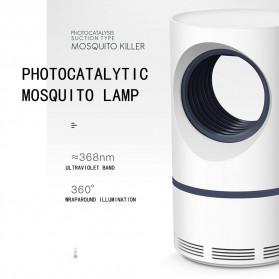 Aleekit Pembasmi Nyamuk Mosquito Lamp Killer USB UV Vortex Purple Light - 188 - White - 2