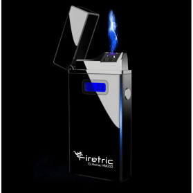 Firetric G-HORSE Korek Api Elektrik Pulse Plasma Cross Double Arc Lighter - HM222 - Black - 1