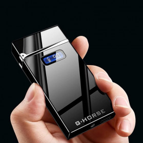 Firetric G-HORSE Korek Api Elektrik Pulse Plasma Cross Double Arc Lighter - HM222 - Black - 2