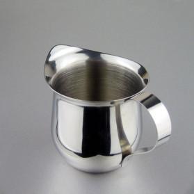 HOUSEEN Gelas Pitcher Kopi Espresso Latte Art Milk Jug Stainless Steel 90ml - DLSC060 - Silver - 8