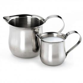 HOUSEEN Gelas Pitcher Kopi Espresso Latte Art Milk Jug Stainless Steel 150ml - DLSC060 - Silver - 7