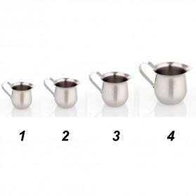 HOUSEEN Gelas Pitcher Kopi Espresso Latte Art Milk Jug Stainless Steel 240ml - DLSC060 - Silver - 2