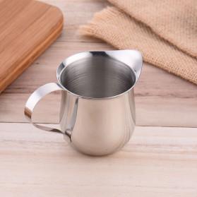 HOUSEEN Gelas Pitcher Kopi Espresso Latte Art Milk Jug Stainless Steel 240ml - DLSC060 - Silver - 9