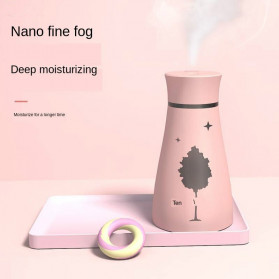 KBAYBO Ultrasonic Air Humidifier Aromatherapy LED Light 200ml - SPT-033 - Pink - 3