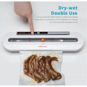 Xinbaolong Food Vacuum Sealer Elektrik Plastik Pembungkus Makanan 220V - BT-02 - Gray/White