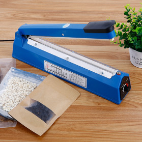 Cikuso Sealer Elektrik Plastik Pembungkus Makanan Heat Sealing Bag 400W - SF-300 - Blue - 5