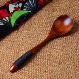 Novelty Sendok Makan Centong Sayur Bahan Kayu Wooden Spoon - RR-20 - Brown