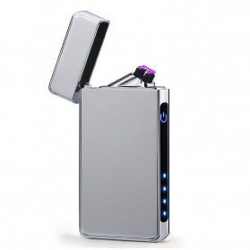 Firetric Korek Api Elektrik Double Pulse Plasma Arc Lighter - HY-6008C - Silver