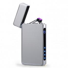 Firetric Korek Api Elektrik Double Pulse Plasma Arc Lighter - HY-6008C - Silver