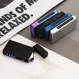 Firetric Korek Api Elektrik Double Pulse Plasma Arc Lighter - HY-6008C - Silver - 2