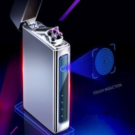 Firetric Korek Api Elektrik Double Pulse Plasma Arc Lighter - HY-6008C - Silver - 3