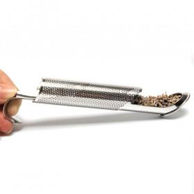 HOOMIN Filter Saringan Infuser Teh Ramuan Herbal Strainer Stainless Steel - G12 - Silver - 3