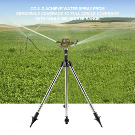 Trigram Sprinkler Spray Air Taman Zinc with Ground Insert Tripod - T800 - Silver