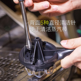 MOJAE Pembersih Mesin Kopi Group Head Cleaning Tool Brush - MOE57 - Black - 2
