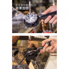 MOJAE Pembersih Mesin Kopi Group Head Cleaning Tool Brush - MOE57 - Black - 7