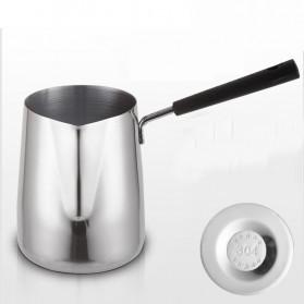 DROHOEY Gelas Kopi Espresso Latte Art Long Handle Stainless Steel 600ml - S07 - Silver - 3
