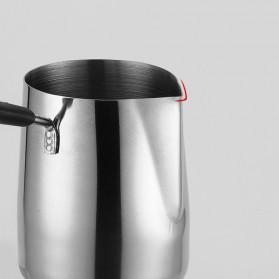 DROHOEY Gelas Kopi Espresso Latte Art Long Handle Stainless Steel 600ml - S07 - Silver - 4