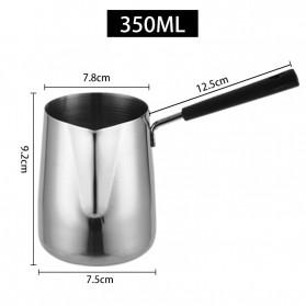 DROHOEY Gelas Kopi Espresso Latte Art Long Handle Stainless Steel 350ml - S07 - Silver - 2