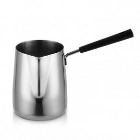 DROHOEY Gelas Kopi Espresso Latte Art Long Handle Stainless Steel 350ml - S07 - Silver - 5