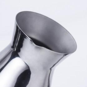 Shun Feng Gelas Kopi Espresso Latte Art Stainless Steel 350ml - DF-4008 - Silver - 10