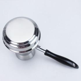 Shun Feng Gelas Kopi Espresso Latte Art Stainless Steel 350ml - DF-4008 - Silver - 9
