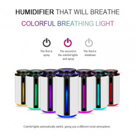 JE J Air Humidifier Smart Ultrasonic Aromatherapy Oil Diffuser LED RGB Light 900ml - WKLS-1688 - Transparent - 3