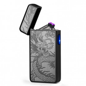 DAROBTL Korek Api Elektrik Double Pulse Plasma Arc Lighter USB Rechargeable - JL-611 - Black - 1