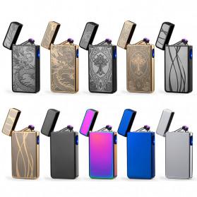 DAROBTL Korek Api Elektrik Double Pulse Plasma Arc Lighter USB Rechargeable - JL-611 - Black - 3
