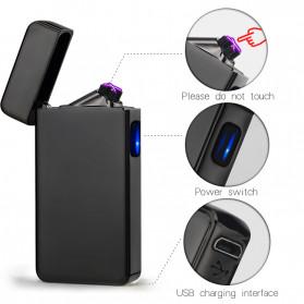 DAROBTL Korek Api Elektrik Double Pulse Plasma Arc Lighter USB Rechargeable - JL-611 - Black - 4