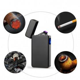 DAROBTL Korek Api Elektrik Double Pulse Plasma Arc Lighter USB Rechargeable - JL-611 - Black - 5