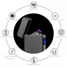DAROBTL Korek Api Elektrik Double Pulse Plasma Arc Lighter USB Rechargeable - JL-611 - Black - 6