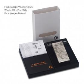 DAROBTL Korek Api Elektrik Double Pulse Plasma Arc Lighter USB Rechargeable - JL-611 - Black - 8